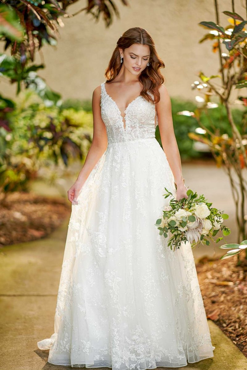 D3127 poppy from Essense of Australia available from Emily bridalwear in Sheffield