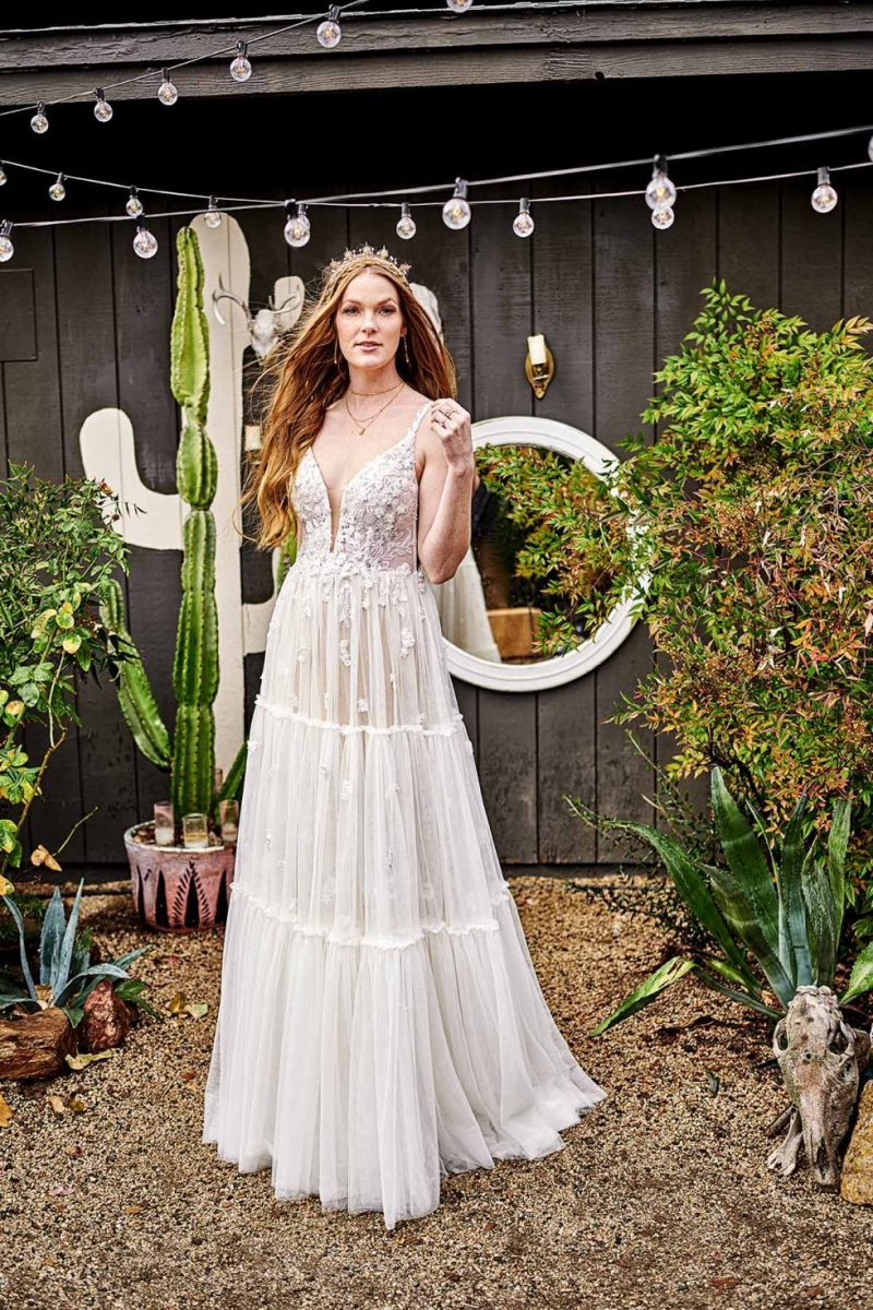 Emme from all who wander available at Emily bridalwear in Sheffield