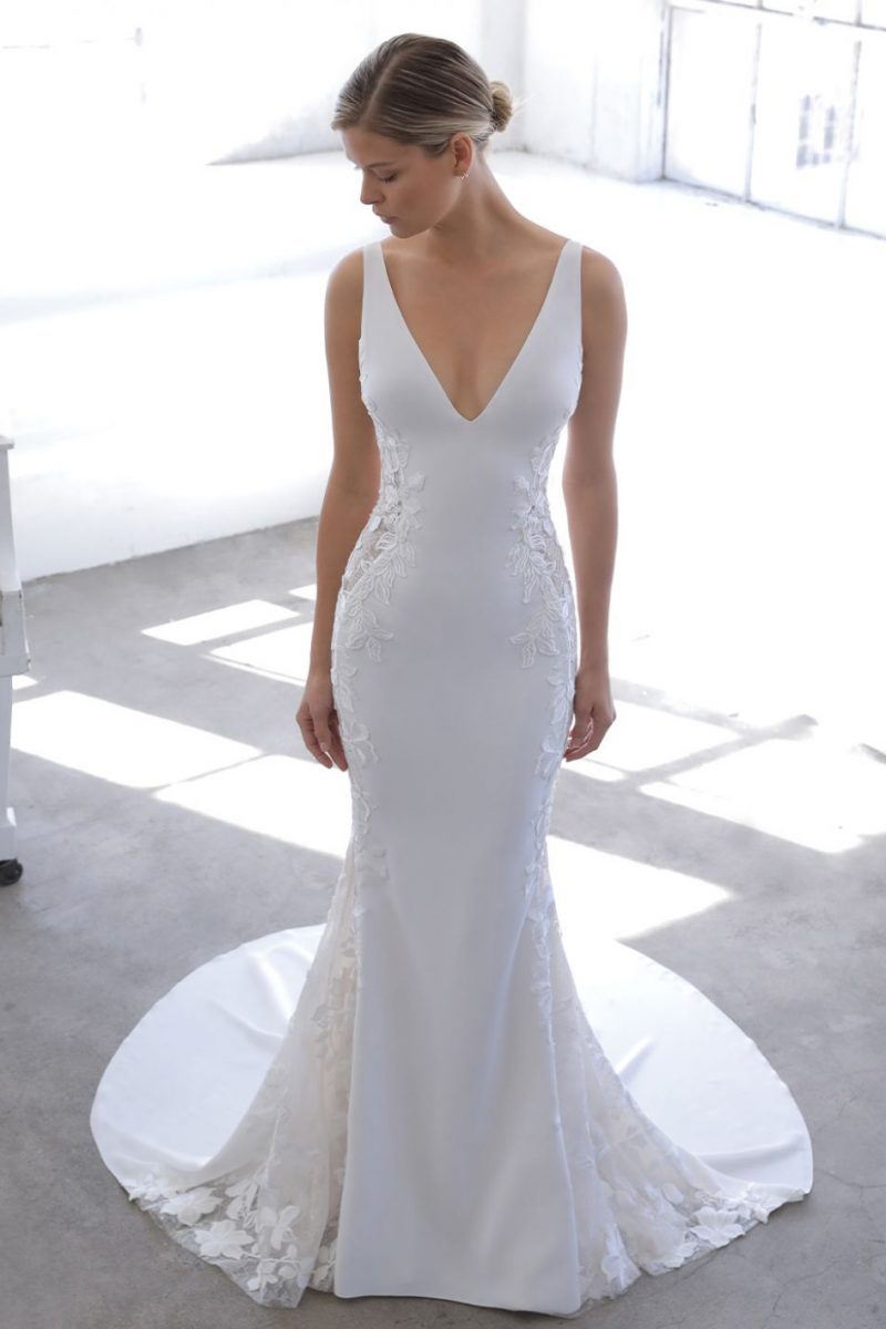 Nuraya Blue by Enzoani available at Emily bridalwear sheffield