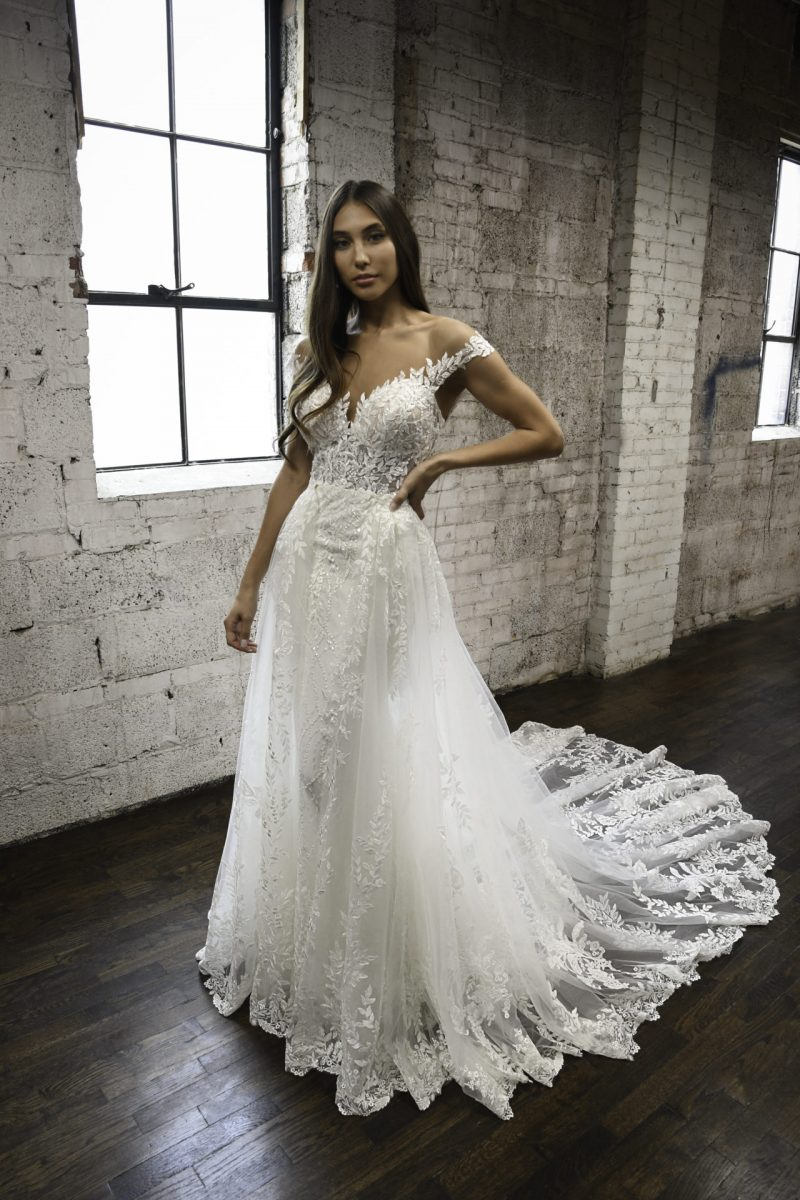Martina Liana 1303 Miley + overskirt | Wedding Dresses | Emily Bridalwear