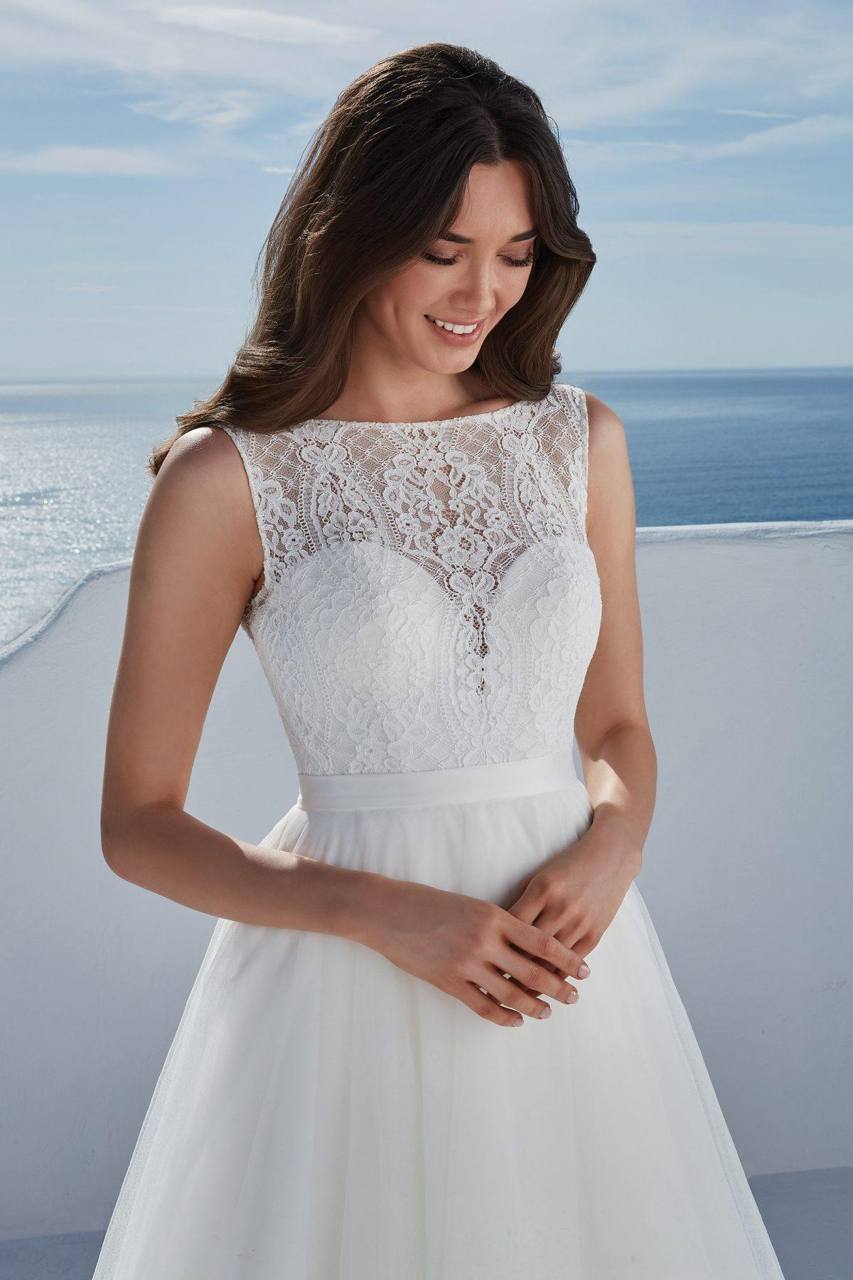 Justin Alexander Briony + overskirt | Wedding Dresses | Emily Bridalwear