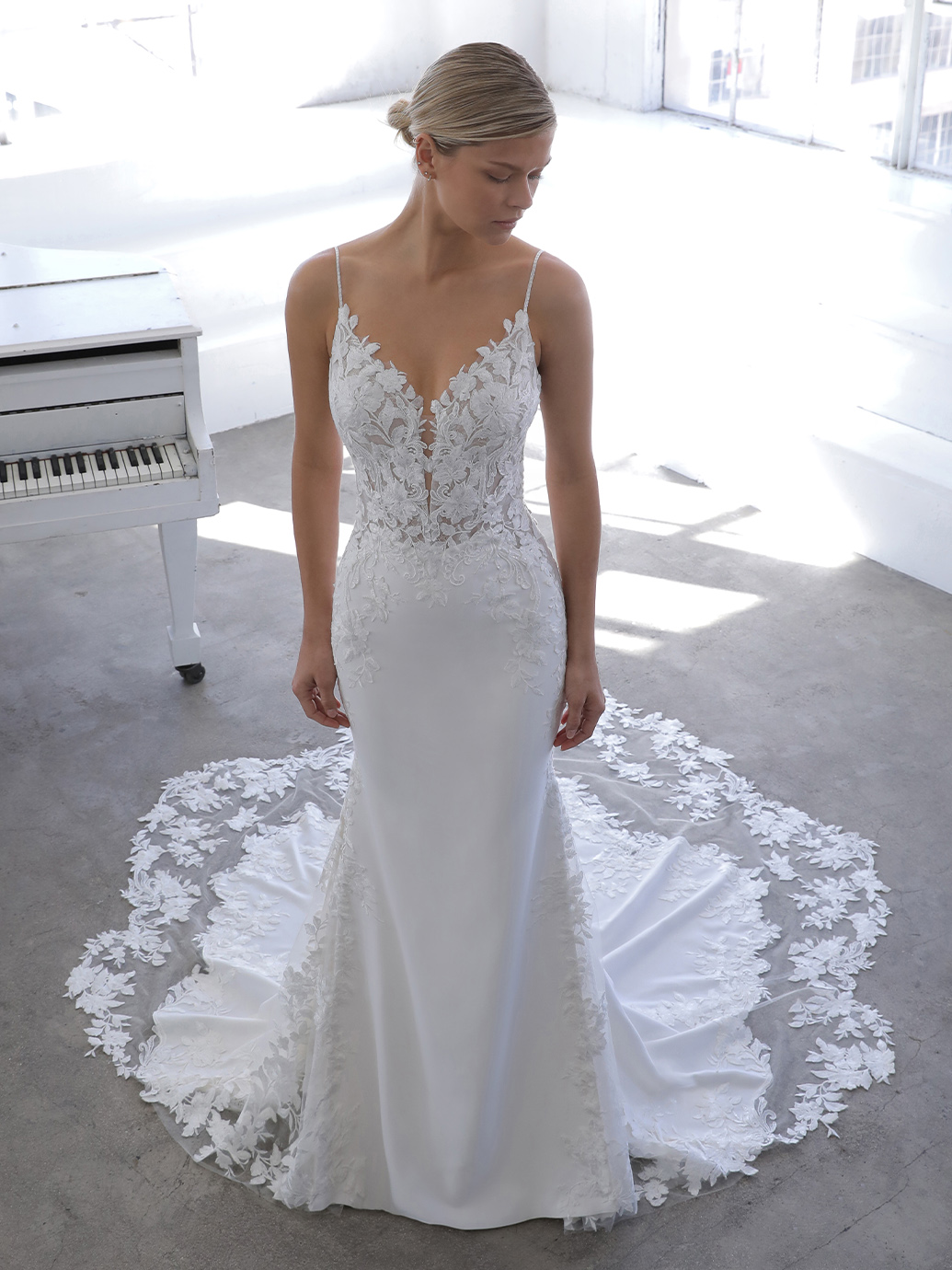 Nigella Blue by Enzoani available at Emily Bridalwear Sheffield