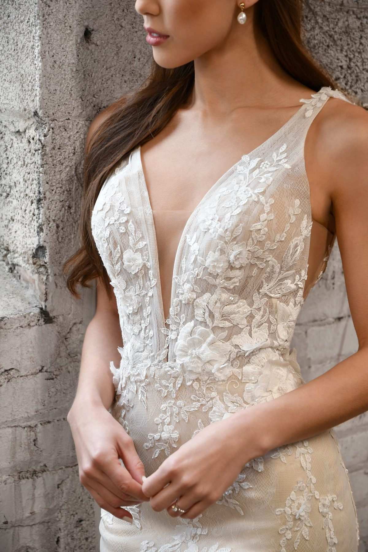 The stunning Martina Liana style 1374 Maxine wedding dress is available from Emily Bridalwear in Sheffield, South Yorkshire.
