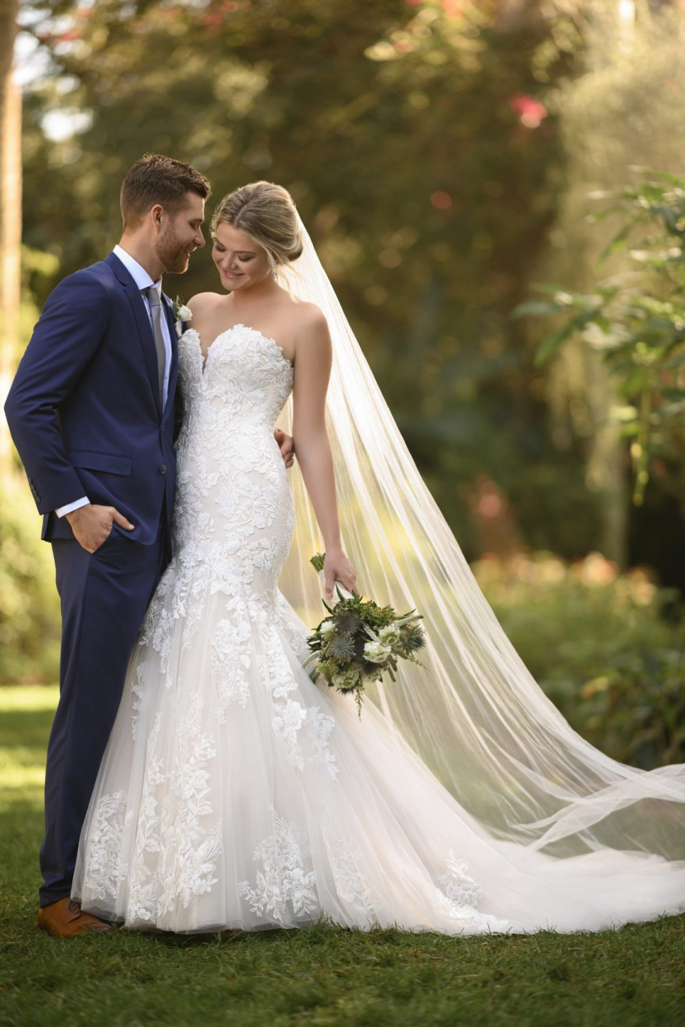 Becca, D3044, A modern Essense of Australia wedding dress available at Emily Bridalwear in Sheffield, South Yorkshire.