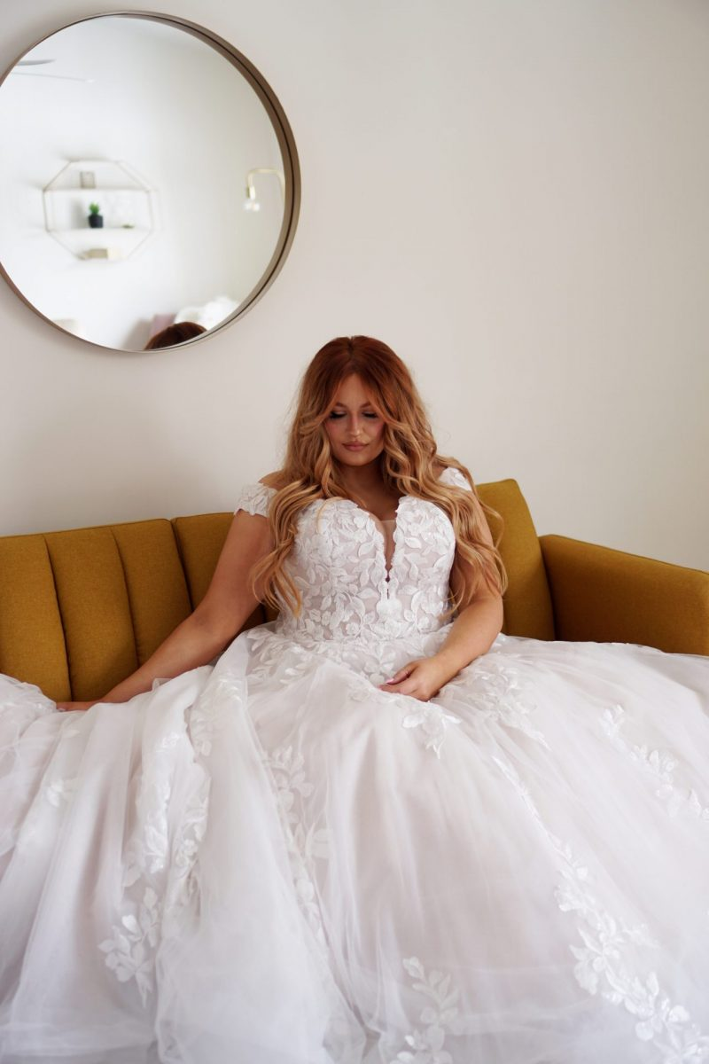 The stunning Essense of Australia Florence D3314 wedding dress is available from Emily Bridalwear in Sheffield, South Yorkshire.