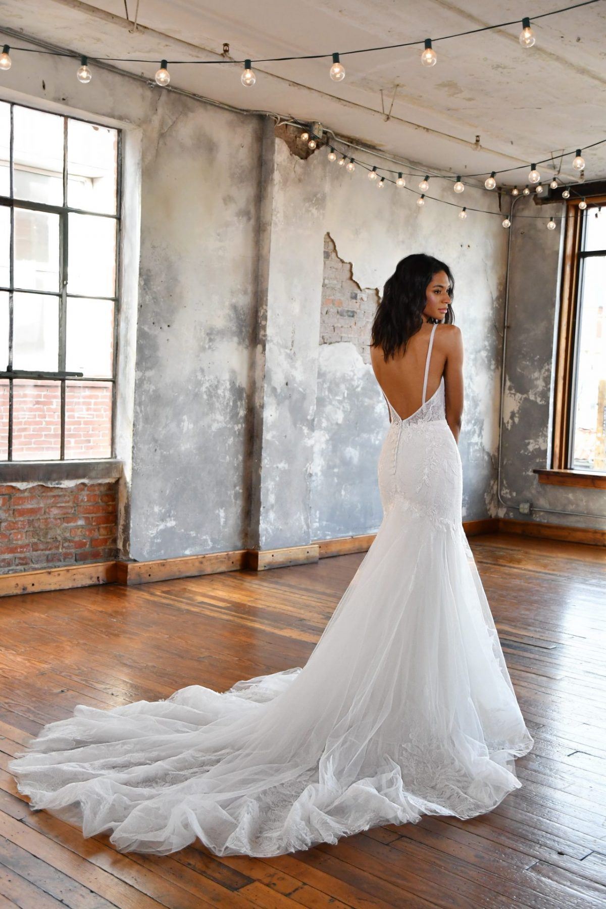 The stunning All Who wander leyla wedding dress is available from Emily Bridalwear in Sheffield, South Yorkshire.